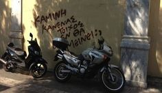 Graffiti Removal needed. Graffiti Removal needed in Athens.  Greek city loosing it's battle with graffiti vandals.  Read our blog for more information: http://taginator.com/wordpress/2013/09/12/graffit-removal-needed-athens-greece/ Photo by greekreporter.com