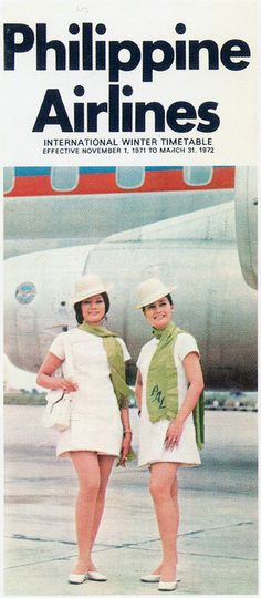 Vintage brochure for Philippine Airlines, 1972