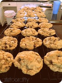 """Pretty much perfect oatmeal & chocolate chip cookies. Adapted from """"favorites"""" cookbook."""