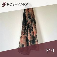 "100% Silk Black, Pink, & Beige Floral Scarf Lovely long black floral silk scarf. I believe this was talbots- I removed the tag because it kept sticking out funny. -71"" x 17.5"" - May be a tiny thread here and there, overall excellent condition no tears or stains  Perfect scarf for the spring. Remember I love to bundle, so pair this with something else for a discount! Accessories Scarves & Wraps"