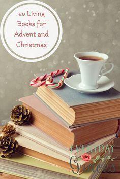 A Charlotte Mason homeschool reading list to keep your family learning through living books through the Advent and Christmas season. #christmas#charlottemason via @LarasPlace