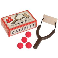 Catapult with Four Foam Balls: Only from Toyday Toyshop. A retro box containing a catapult and four foam balls. Stocking Fillers For Kids, Christmas Stocking Fillers, Online Gift Shop, Online Gifts, Modern Kids Toys, Lance Pierre, Bow And Arrow Set, Party Bag Toys, Party Bags