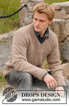 Men's Jumper free knitting pattern.