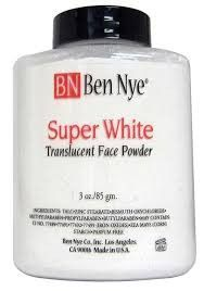 Super White is a Non-Translucent Powder, blended with white pigment to brighten White, Geisha, Porcelain and other very fair shades. Ben Nye's Translucent Powders set creme makeups for a durable, soft