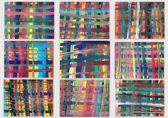 small heads of art Weaving Projects, Art Projects, Middle School Art, Art School, Painting For Kids, Art For Kids, Tartan, Plaid, Katie Morag