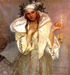 Mucha, Alphonse (1860-1939) - 1919 Christmas in America (Private Collection)