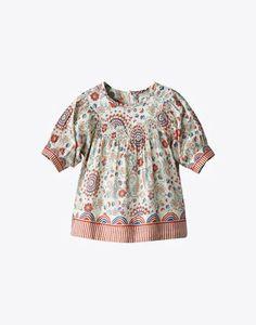 Stella McCartney - DIXI TOP:  Dixi girls all over printed top in cotton poplin  $79