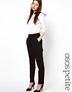 Image 1 - ASOS PETITE - Pantalon carotte basique