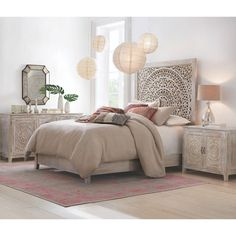Home Decorators Collection Chennai White Wash King Platform Bed 9467810410 at The Home Depot - Mobile Home Bedroom, Bedroom Furniture, Bedroom Decor, Bedrooms, Whitewash Furniture, King Bedroom Sets, Furniture Ads, Selling Furniture, Furniture Outlet