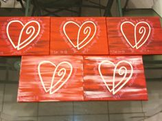 Lots of love...Valentines paintings with scripture