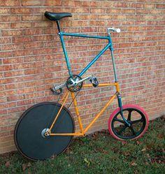 okay, the 80's urban fixee tall bike today.