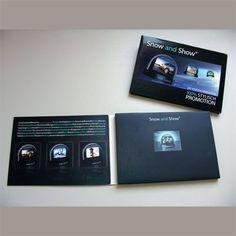 Video-in-Print-Advertising Karte für ein Werbemailing http://www ...