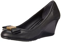 Cole Haan Women's Tali Grand Bow WDG65 Wedge, Black, 10.5 B US *** Visit the image link more details.