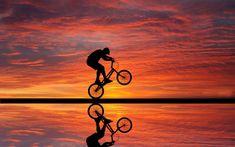 Framed Print - Bmx Rider Doing Stunts At Sunset (Picture Poster Push Bike Art) New Wallpaper Full Hd, Beach Wallpaper, Hd Wallpaper, Batman Wallpaper, Photo Wallpaper, Bike Photography, Silhouette Photography, Photography Business, Creative Photography