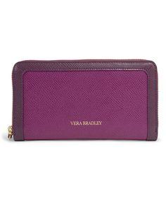 Vera Bradley Plum Leather Georgia Wallet | zulily