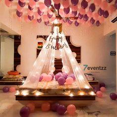 Husband Birthday Decorations, Birthday Ideas For Husband, Surprise Party Decorations, Hubby Birthday, Birthday Balloon Decorations, Anniversary Decorations, Birthday Balloons, Birthday Party Decorations, Romantic Room Surprise