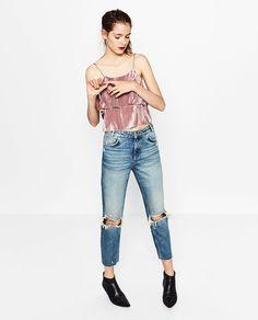 Image 1 of VELVET TOP from Zara