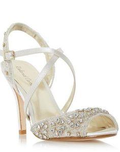 514fd724ebe R Cartier Embellished Cross Strap High Heel Sandal Roland Cartier