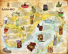 Tiki Menu as Map - Could use crescent city
