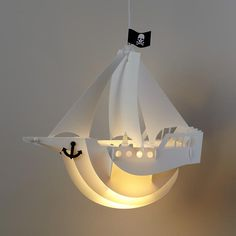 The Land of Nod | Kids Lighting: Pirate Ship Ceiling Lamp