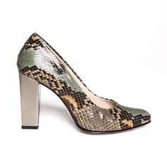 Zurbano | Bright Python - exotic python skin leather pumps