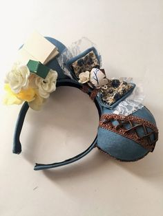 Your place to buy and sell all things handmade Disney Mouse Ears, Mickey Ears, Mickey Mouse, Disney Bows, Ear Hair, Beauty And The Beast, Hair Bows, Headbands, Cuff Bracelets