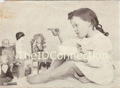 1902 Digital Scan Children Talking to Her Toy Dolls by TheIDconnection, $10.00  1902 Digital Scan Children Talking to Her Toy Dolls http://TheIDconnection.etsy.com Texana http://etsy.me/MPgMrQ  @Etsy  Lenora Dorian Estate - Galveston , Texas  Preserved & offered for sale by the Roland Dressler Collection, Galveston Island Texas   http://TheIDconnection.etsy.com