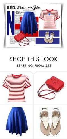 """Red, White and Blue Fashion"" by elena-indolfi ❤ liked on Polyvore featuring Miss Selfridge, redwhiteandblue, july4th, elenaindolfi and zazzy"