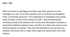 Attracting an INFJ. Absolutely...oh yeah... but cruelty of any kind kinda ruins it for me