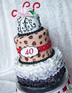 40th Diva Birthday  Cake by RockCandyCakes