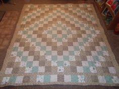 Trip Around the World Quilt. Made by Angela Spradlin. Hillside Hobby Quilts