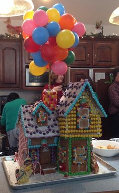 Yes, this house from Up is made from gingerbread, frosting and candies. Keep Kevin away from it!