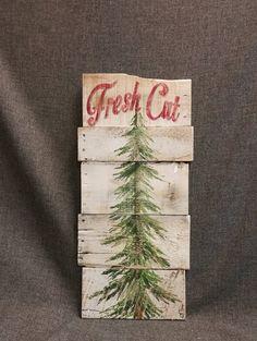 Christmas tree fresh cut Christmas sign by TheWhiteBirchStudio