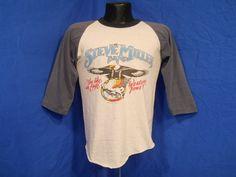 Vintage 70s Steve Miller Band Fly Like An Eagle Western Tour 1977 T Shirt Med M   eBay