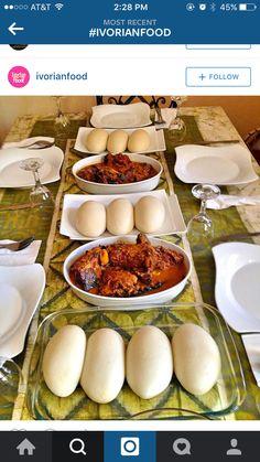 Cassava fufu with stew