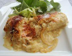 Martinas Kochküche: Überbackenes Lachsfilet mit Senfsoße