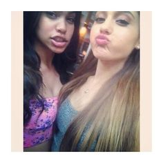 Ariana grande and a fan