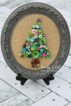 This is listed on the Kids Craft blog but it's a great project for any age. You can make it a size to suit your picture frame. You could also use a colored cardstock for a brighter Christmas …