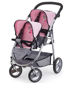 Buy Bayer Twin Tandem Soft Pink Grey at Argos.co.uk - Your Online Shop for Doll prams and pushchairs, Doll clothes and accessories.