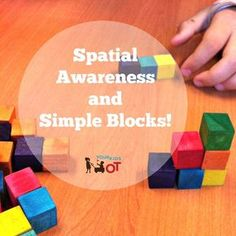 relationship activities Spatial Awareness and Simple Blocks! Your Kids OT Visual Motor Activities, Visual Perception Activities, Educational Activities, Senses Preschool, Senses Activities, Preschool Activities, Sensory Processing Disorder Symptoms, Occupational Therapy Activities, Occupational Therapist