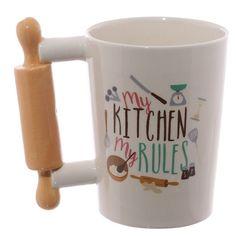 Rolling Pin Shaped Handle Ceramic Mug http://ift.tt/2kYhTiz