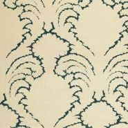 Pineapple Frond Prints, Linen, Fabric by Soane Britain Fabric Rug, Blue Fabric, Linen Fabric, Love Wallpaper, Fabric Wallpaper, Beautiful Wallpaper, Wallpaper Ideas, Hand Printed Fabric, Printing On Fabric