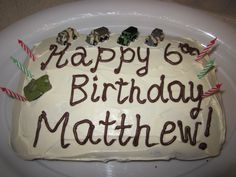 Matthew's army themed party (I made 2 different cakes. this one had a surprise inside! Different Cakes, Party Themes, Army, Birthday, Desserts, Food, Gi Joe, Tailgate Desserts, Military