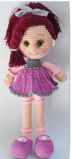 Mesmerizing Crochet an Amigurumi Rabbit Ideas. Lovely Crochet an Amigurumi Rabbit Ideas. Crochet Doll Clothes, Knitted Dolls, Crochet Amigurumi Free Patterns, Amigurumi Tutorial, Pretty Dolls, Amigurumi Doll, Crochet Baby, Crochet Projects, Creations