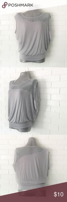 """🔴BOGO FREE🔴Gray Mesh Dolman Sleeve Top ❗️Purchase any item at list price & receive another item FREE (of equal or Lesser value)❗️  ••NWOT-no flaws•• •Wide neckline •Short dolman sleeves •Wide loose fit •Rayon/spandex •M  •Chest: 26"""" •Length: 25""""  •NO TRADE/HOLD  •YES BUNDLES   •PLEASE ASK QUESTIONS & READ DESCRIPTIONS. Measurements and sizing recommendations are for guidance purposes only. I cannot guarantee fit❗️ Boutique Tops Blouses"""