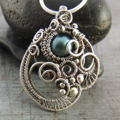 Turquoise Freshwater Pearl Silver Bridal by SamBraundJewellery, £120.00