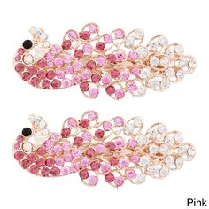 Moda /Gold/Pink/Purple/Silver Peacock Hair Barrettes