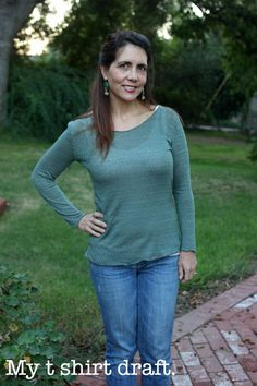 Sew Country Chick- Handmade Style Seld drafted tee from the Design It Yourself Clothes Sew Along.