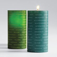 100 good wishes candle set