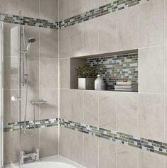 40 Beautiful Bathroom Shower Tile Design Ideas and Makeover 32 – Home Design Shower Niche, Shower Tub, Shower Doors, Bathroom Tile Designs, Shower Designs, Bathroom Ideas, Bathroom Storage, Bathroom Inspiration, Bath Ideas